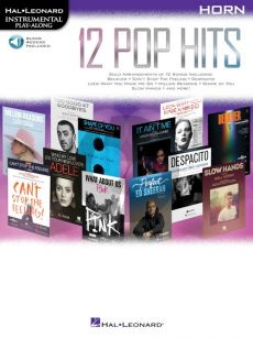 12 Pop Hits Instrumental Play-Along Horn (Book with Audio online)