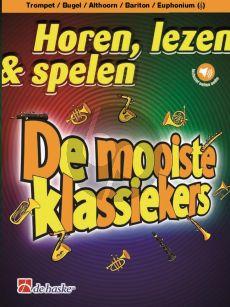 Schenk Horen, lezen & spelen - De mooiste klassiekers Trompet / Bugel / Bariton / Euphonium (TC)-Piano (Boek met Audio online)