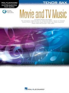 Movie and TV Music for Tenor Saxophone (Instrumental Play-Along) (Book with Audio online)