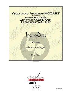 Mozart Vocalises KV 393 d'apres Solfeggi pour Flute (David Walter-Frederique Walter et Christine Kaufmann)