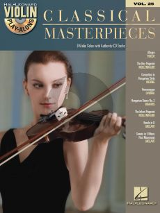 Classical Masterpieces for Violin (Violin Play-Along Series Vol. 25) (Book with Audio online)