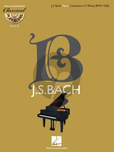 Bach Concerto f-minor BWV 1056 Piano and Orchestra (Classical Play-Along Volume 10) (Bk-Cd)