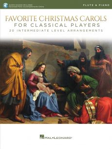 Favorite Christmas Carols for Classical Players for Flute and Piano (Book with Audio online)