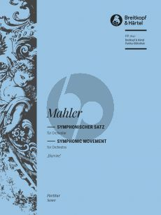 """Mahler Symphonic Movement """"Blumine"""" to the 1st Symphony Full Score (edited by Christian Rudolf Riedel)"""