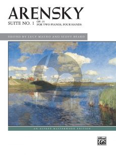 Arensky Suite No. 1 Op. 15 2 Piano's Score (edited by Lucy Mauro and Scott Beard)