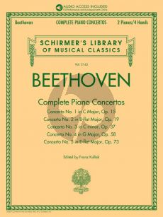 Beethoven Complete Piano Concertos Piano reduction (edited by Franz Kullak) (Book with Audio online of full performances & orchestral accompaniments)