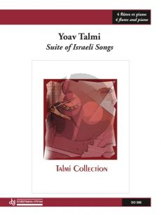 Talmi Suite of Israeli Songs 4 Flutes and Piano (Score/Parts)