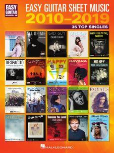 Easy Guitar Sheet Music 2010-2019