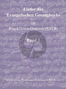 Album Lieder des Evangelische Gesangbuchs Vol.1 Blockflöten-Quartett (SATB) (Kirchenjahr (Advent und Weihnachten))