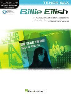 Billie Eilish Tenor Saxophone Instrumental Play-Along Pack (Book with Audio online)