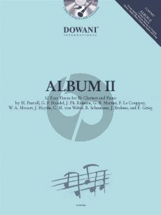 Album 2 Clarinet and Piano (Book with CD and Audio online) (Dowani 3 Tempi Play-Along)