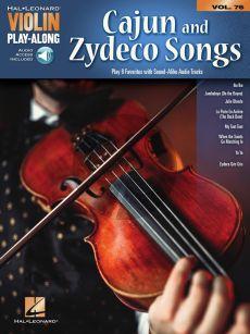 Cajun & Zydeco Songs for Violin (Violin Play-Along Volume 76)