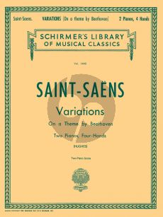 Saint-Saens Variations on a theme by Beethoven Op.35 2 Pianos (edited by Edwin Hughes)