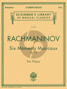 Rachmaninoff 6 Moments Musicaux Op.16 Piano solo