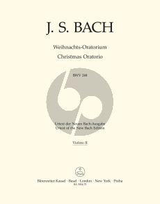 Bach Weihnachts Oratorium BWV 248 Soli-Chor-Orch. Violine 2