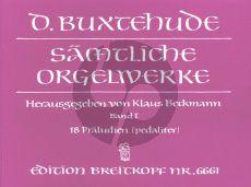 Buxtehude Orgelwerke Vol.1 18 Praeludia BuxWV 136 - 153 (Klaus Beckmann)