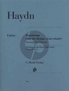 """Haydn Variationen G-dur uber die Hymne """"Gott erhalte"""" aus dem """"Kaiserquartett"""" Hob.III:77 (edited by S.Gerlach) (Henle-Urtext)"""