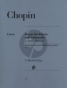 Chopin Sonate g-moll Op.65 Violoncello-Piano (edited by Ewald Zimmermann) (Henle-Urtext)
