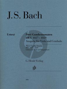 Bach 3 Sonaten BWV 1027 - 1029 Viola da Gamba (Urtext) Viola-Klavier (Heinemann-Schilde)