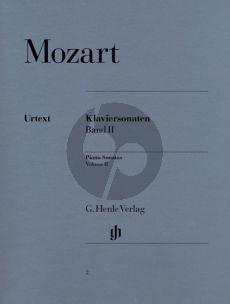Mozart Sonaten Vol.2 Klavier (Herttrich/Theopold) (Henle-Urtext)