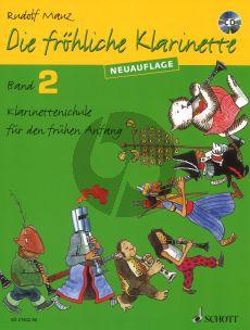 Mauz Die Frohliche Klarinette Vol.2 Bk-Cd (Neuauflage) (Klar.Schule für den Frühen Anfang)