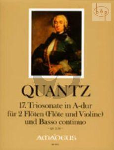 Triosonate A-major QV2:36 (2 Flutes[Fl.-Vi.]-Bc)