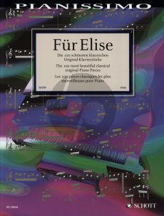 Album Fur Elise (100 Most Beautiful Classical Original Piano Pieces) (edited by H.G.Heumann) (grade 3 - 4)