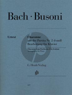 Bach Chaconne aus der Partita No.2 d-moll Klavier (transcr. by Ferruccio Busoni) (edited by Norbert Mullemann) (Henle-Urtext)