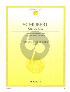 Schubert 2 Standchen D 957/4 / D 889 (Mittelstimme und Klavier)