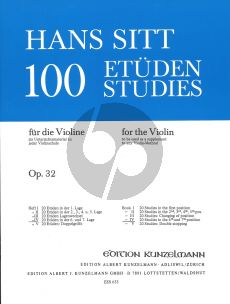 Sitt 100 Etuden Op.32 Vol.4 Violine (20 Etuden 6 & 7 Lage)