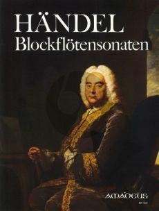 Handel Sonatas (Complete) Treble Recorder-Bc (edited by Winfried Michel)