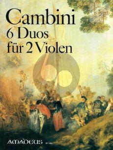 Cambini 6 Konzertante Duos 2 Viola's (Parts) (Bernhard Pauler)