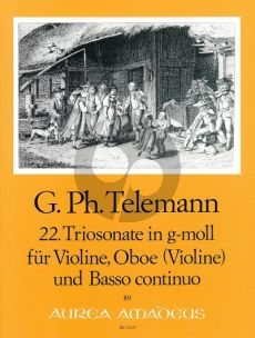 Telemann Trio Sonata g-minor TWV 42:g6 Violin-Oboe[Vi.]-Bc