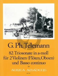 Trio Sonata a-minor (Sonata Polonaise) TWV 42:a5 2 Violins[2 Fl./2 Ob.]-Bc