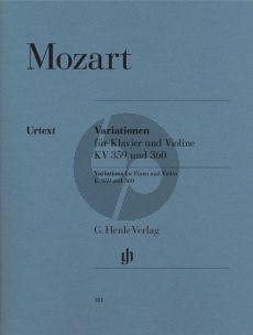 Mozart Variationen KV 359 & KV 360 Violin-Piano (edited by E.F.Schmid) (Henle-Urtext)