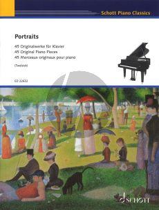 Portraits for Piano Solo (45 Original Piano Pieces Edited by Monika Twelsiek) (Intermediate to Advanced)