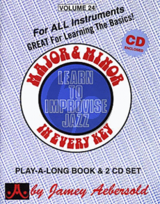 Aebersold Jazz Improvisation Vol.24 Major and Minor for Any C, Eb, Bb, Bass Instrument or Voice - Intermediate/Advanced (Bk-Cd)