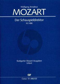 Mozart Der Schauspieldirektor KV 486 Klavierauszug (Deutsch) (Ulrich Leisinger)