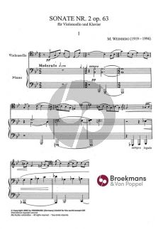 Weinberg Sonate No.2 Op.63 (1959) Violoncello-Klavier (Vainberg, Moisei Samuilovich)