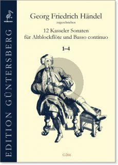 Handel 12 Kasseler Sonaten Vol.1 (No.1-4) Altblockflöte-Bc