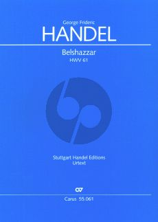 Belshazzar HWV 61 Soli-Choir and Orchestra (Full Score) (edited by Felix Loy)