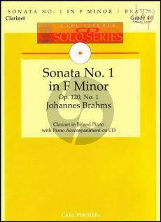 Sonata Op.120 No.1 (Clarinet-Piano) (Bk-Cd) (edited by Denise Schmidt)