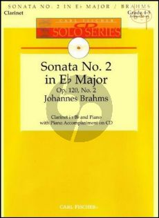 Sonata Op.120 No.2 (Clarinet-Piano) (Bk-Cd) (edited by Denise Schmidt)