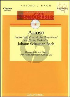 Arioso (Largo from Harpsichord Conc. BWV 1056) (Clarinet-Piano) (Bk-Cd)