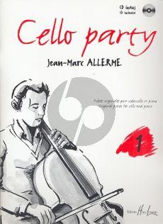 Allerme Cello Party Vol. 1 Violoncelle et Piano (Pieces Originales) (Bk-Cd)