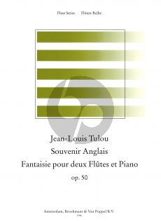 Tulou Souvenir Anglais Op.50 2 Flutes-Piano (Score/Parts) (edited by Stephen Preston)