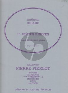 Girard 11 Pieces Breves Oboe-Piano (advanced)