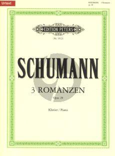 Schumann 3 Romanzen Op.28 Klavier (neu durchgesehen von Rüdiger Bornhöft, mit Revisionsbericht) (Urtextausgabe)