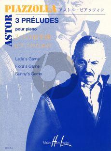 Piazzolla 3 Preludes pour Piano