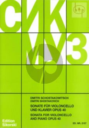 Shostakovich Sonate d-moll Op.40 (1934) Violoncello-Klavier